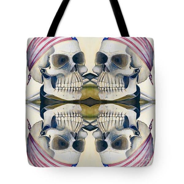 Four Skulls Tote Bag