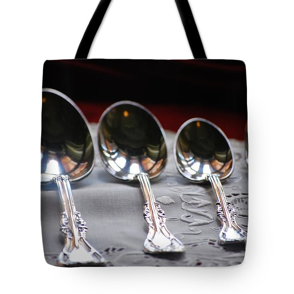 Four Spoons And A Fork Tote Bag