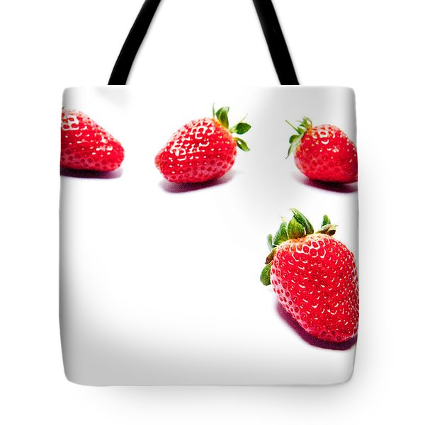 Four Strawberries Tote Bag