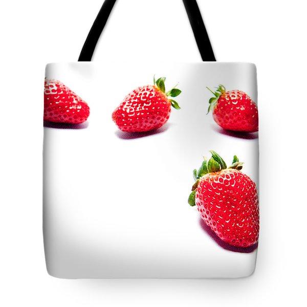 Four Strawberries Tote Bag