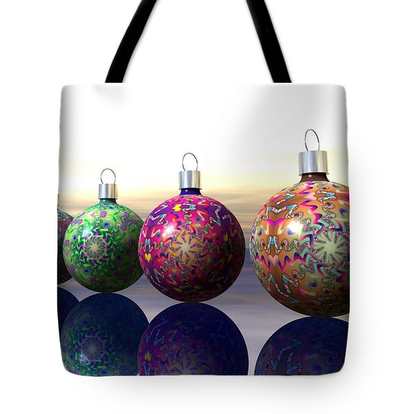 Four Tree Ornaments Tote Bag