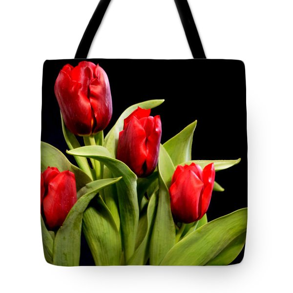 Four Tulips Tote Bag