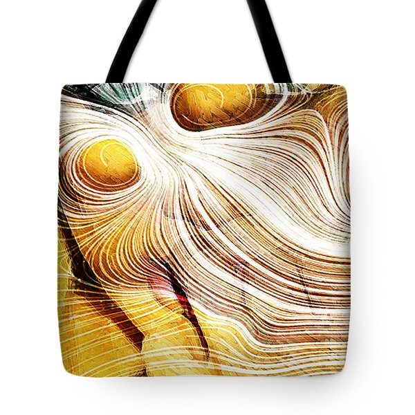 Four Yellow Eyes Tote Bag