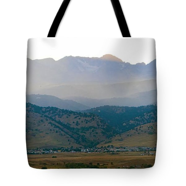 Fourmile Canyon Wildfire Front Range Wind View 09-09-10 Panorama Tote Bag by James BO  Insogna