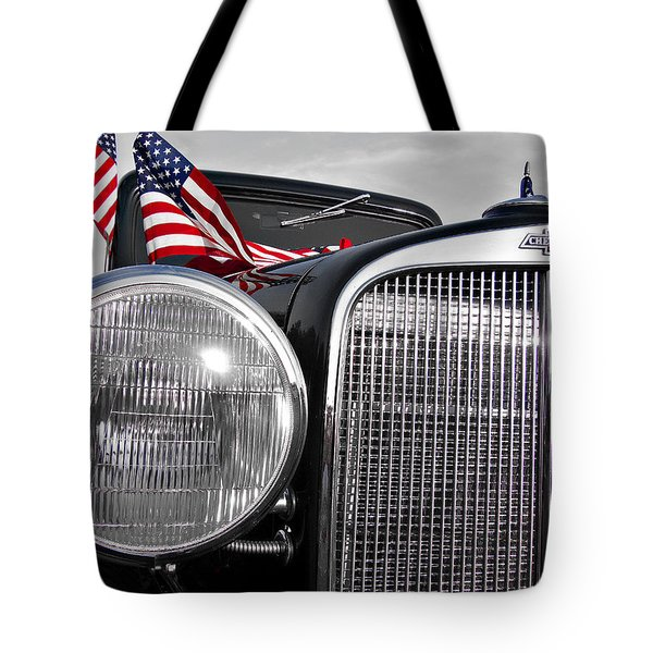 Fourth Of July-chevvy  Tote Bag by Douglas Barnard
