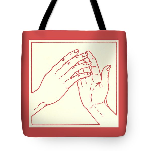Tote Bag featuring the drawing Fourth Station- Jesus Meets His Mother by William Hart McNichols