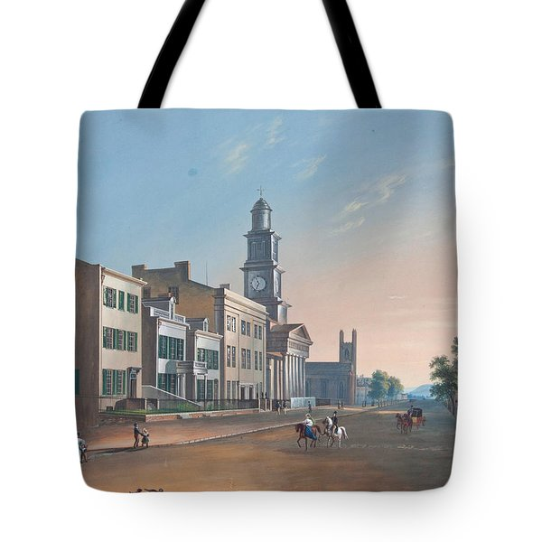 Fourth Street. West From Vine Tote Bag by John Caspar Wild