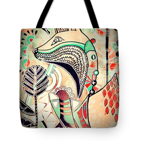 Tote Bag featuring the painting Fox 2 by Amy Sorrell