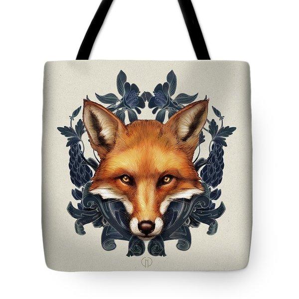 Fox Embellished Tote Bag
