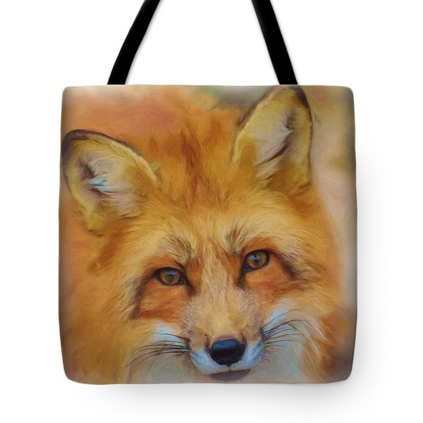 Fox Face Taken From Watercolour Painting Tote Bag