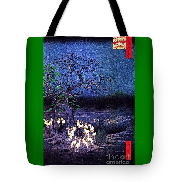 Fox Fires Tote Bag