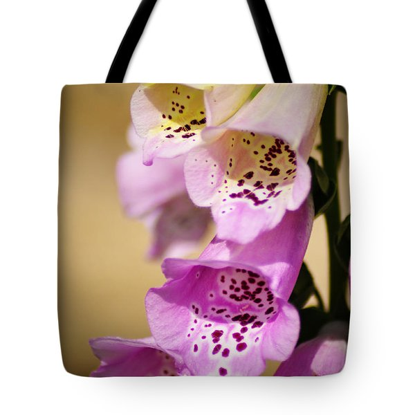 Fox Gloves Tote Bag by Bill Cannon