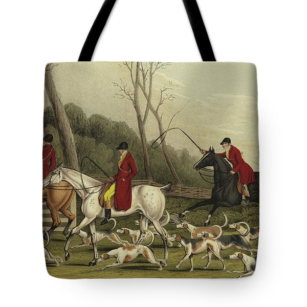 Fox Hunting Going Into Cover Tote Bag