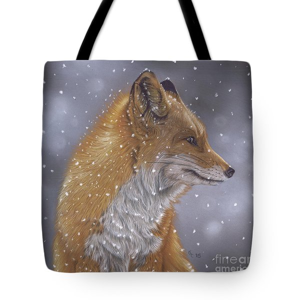 Fox In A Flurry Tote Bag