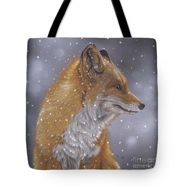 Fox In A Flurry Tote Bag