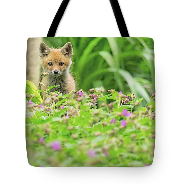 Fox In The Garden Tote Bag by Everet Regal