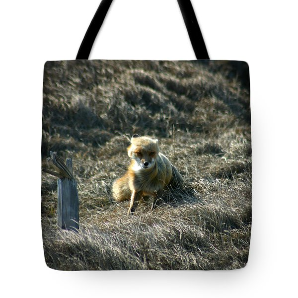 Fox In The Wind Tote Bag