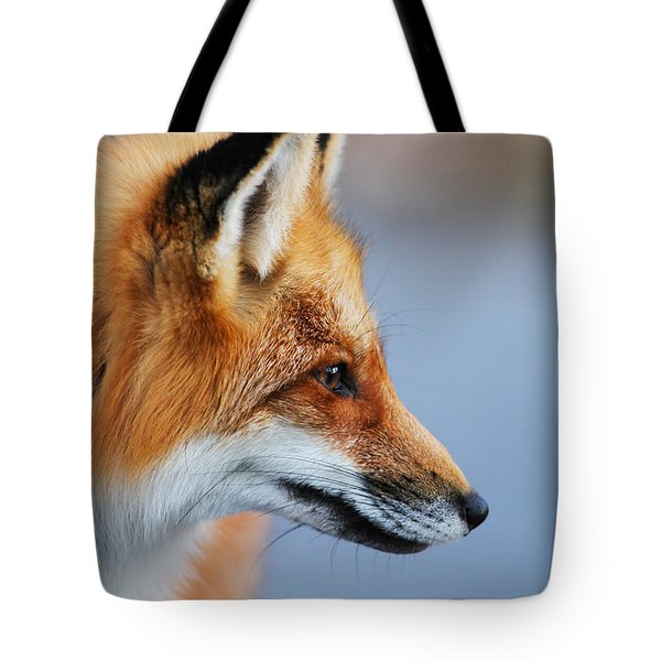 Fox Profile Tote Bag by Mircea Costina Photography