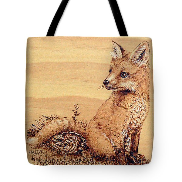Fox Pup Tote Bag by Ron Haist