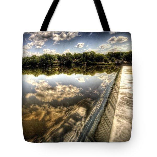 Fox River At The Geneva Dam Tote Bag