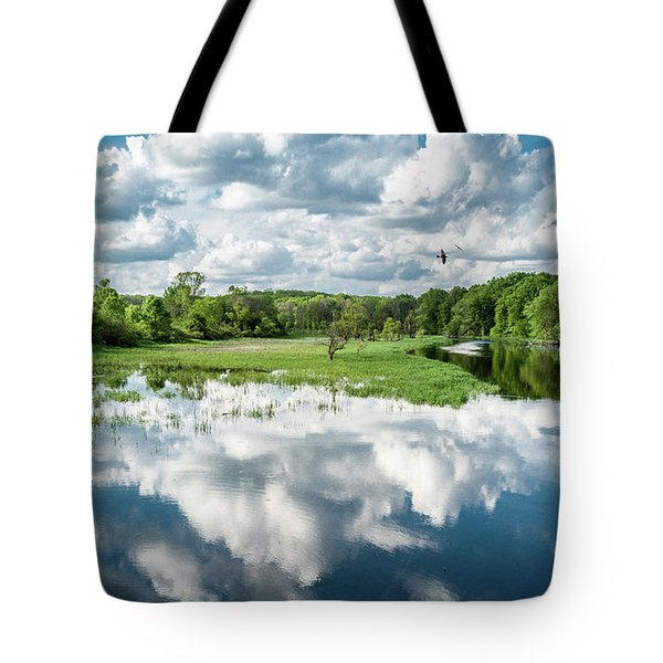 Tote Bag featuring the photograph Fox River by Randy Scherkenbach