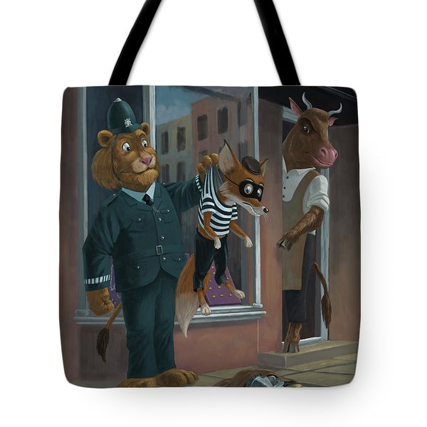 Fox Robber Caught Tote Bag