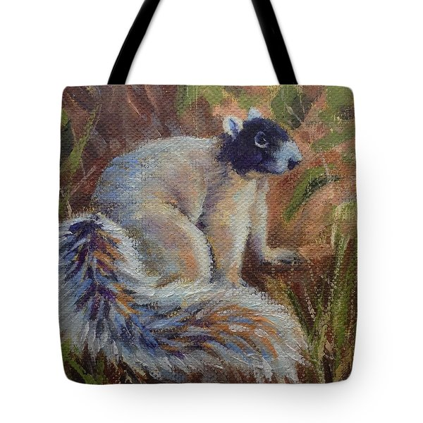 Tote Bag featuring the painting Fox Squirrel by Pam Talley