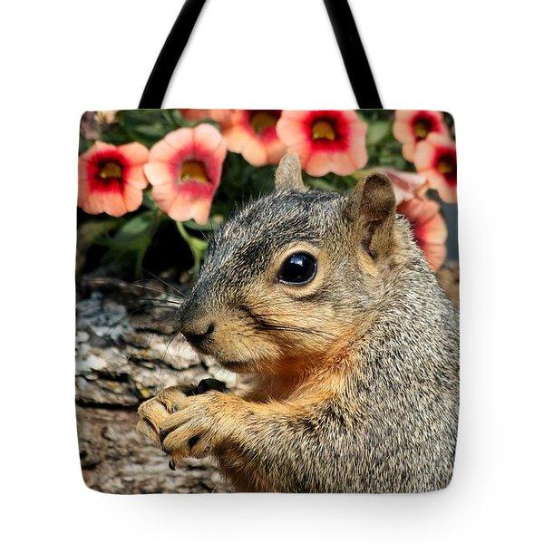 Fox Squirrel Portrait Tote Bag