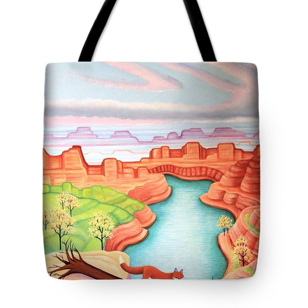 Fox Trotting Tote Bag by Tracy Dennison