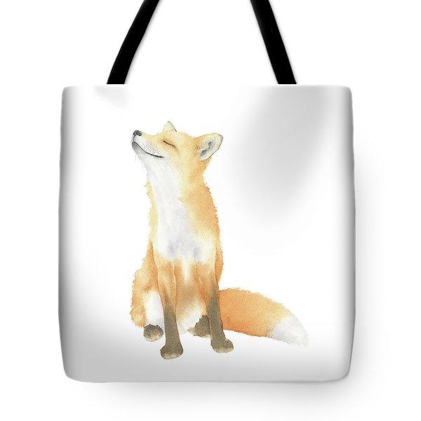 Tote Bag featuring the painting Fox Watercolor by Taylan Apukovska