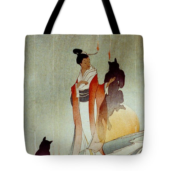 Tote Bag featuring the photograph Fox Woman 1912 by Padre Art