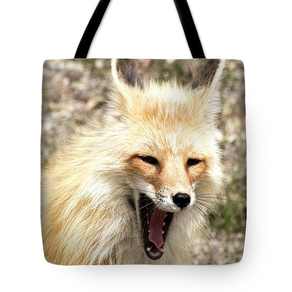 Fox Yawn Tote Bag