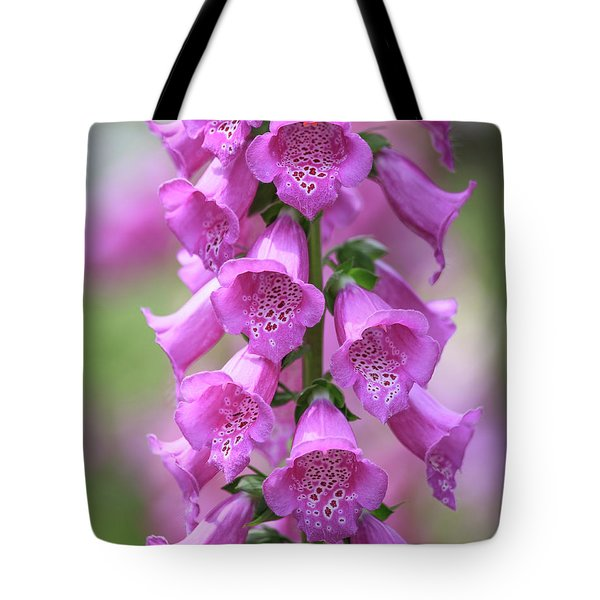Tote Bag featuring the photograph Foxglove Flowers by Edward Fielding