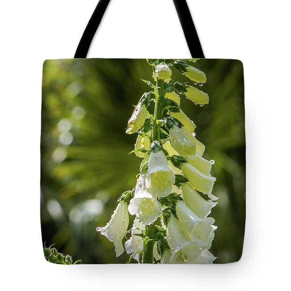 Tote Bag featuring the photograph Foxglove by Lynne Jenkins