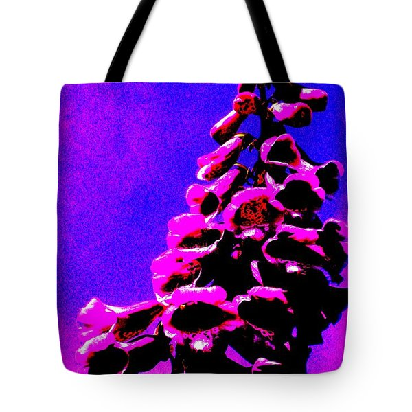 Tote Bag featuring the painting Foxglove by Renate Nadi Wesley
