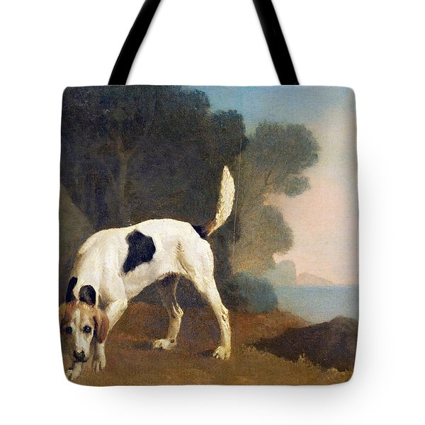 Foxhound On The Scent Tote Bag by George Stubbs
