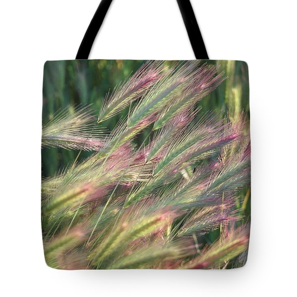 Foxtails In Spring Tote Bag