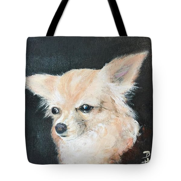 Tote Bag featuring the painting Foxy Lady  by Bonnie Heather