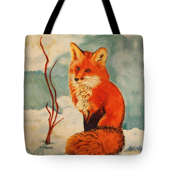 Foxy Presence Throw Pillow Tote Bag