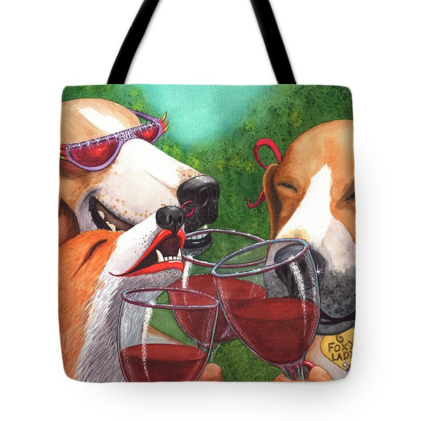 Foxy Winers Tote Bag
