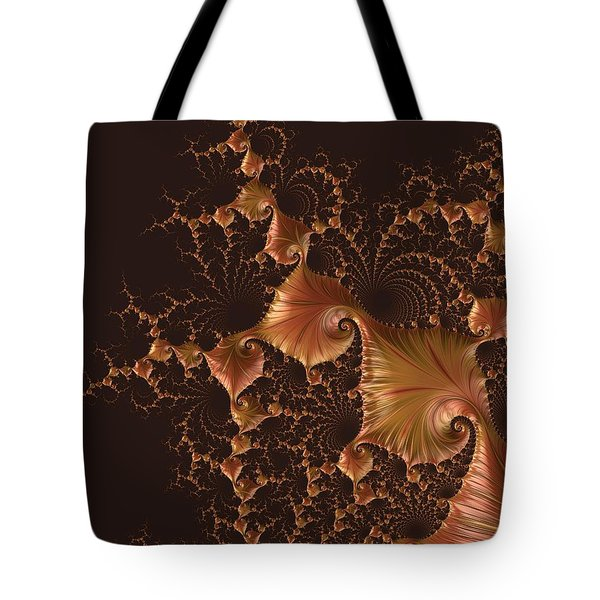Tote Bag featuring the digital art Fractal Alchemy by Susan Maxwell Schmidt