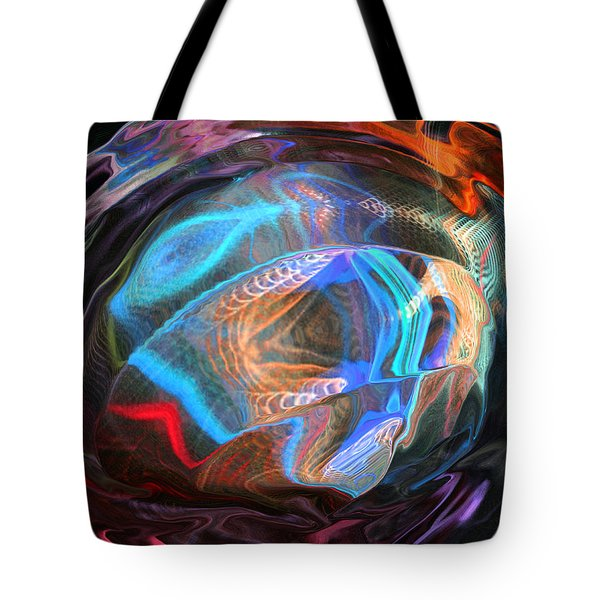Tote Bag featuring the photograph Fractal Ball by Kate Word