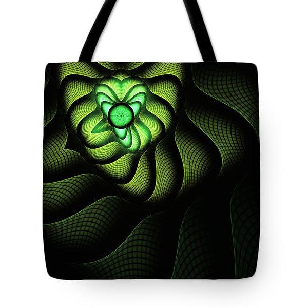 Fractal Cobra Tote Bag by John Edwards