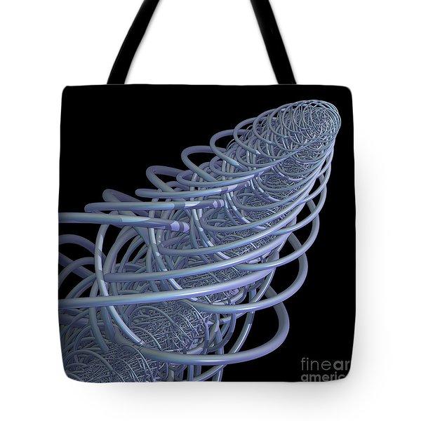 Fractal Comet Tote Bag