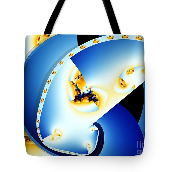 Fractal Construct Tote Bag by Ron Bissett