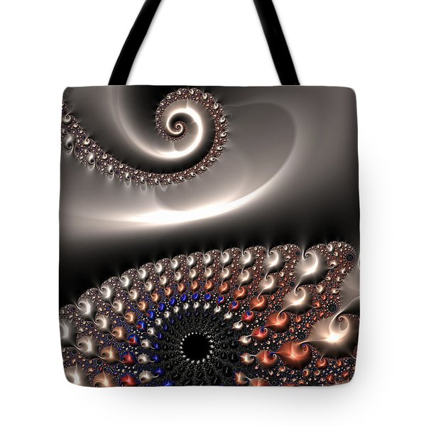 Tote Bag featuring the digital art Fractal Contact by Matthias Hauser