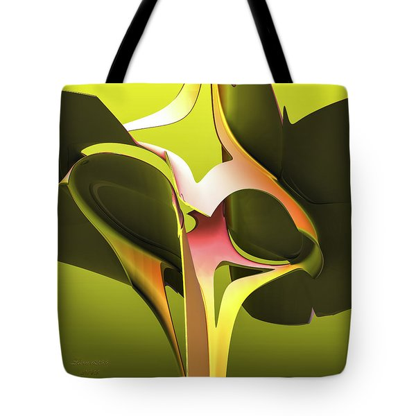 Tote Bag featuring the digital art Fractal Eyes by Melissa Messick