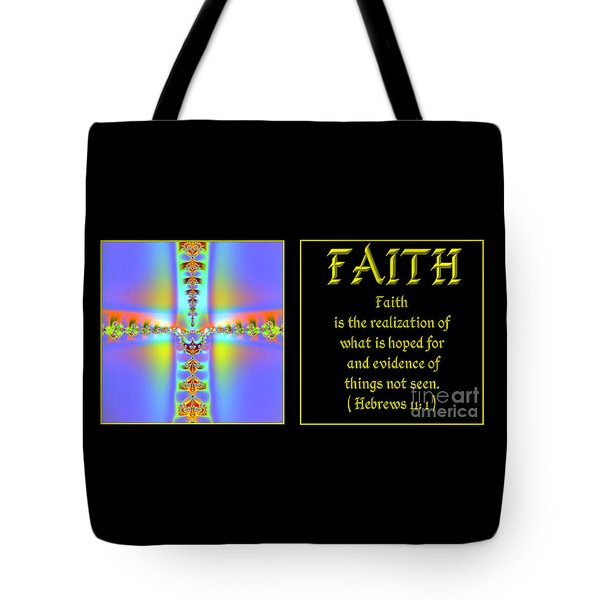 Fractal Faith Hebrews 11 Tote Bag