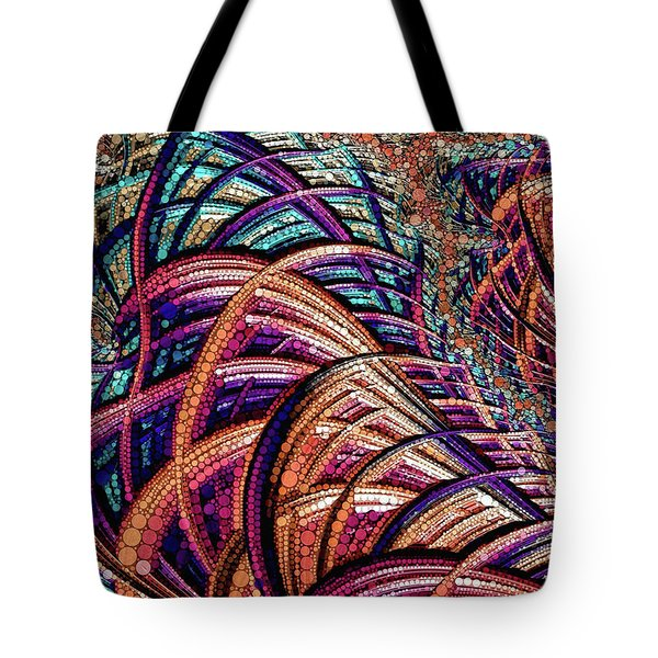 Tote Bag featuring the painting Fractal Farrago by Susan Maxwell Schmidt