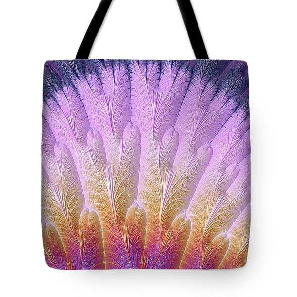 Fractal Feather Fan Tote Bag